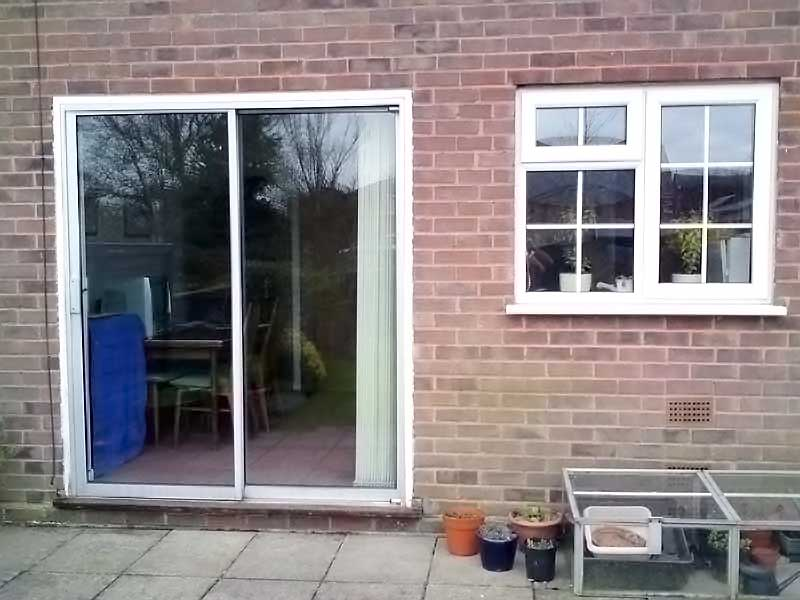 Patio Doors BEFORE Film Applied