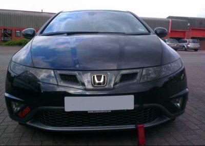 Honda Civic headlight tint
