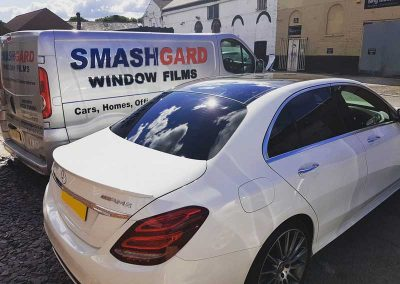 Mercedes window film