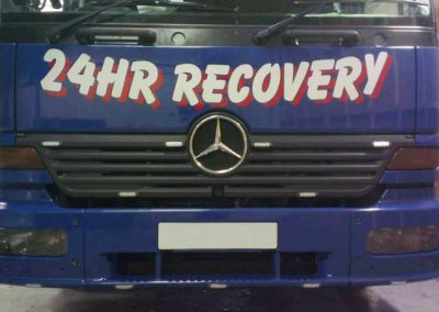 Recovery Truck Headlight tint