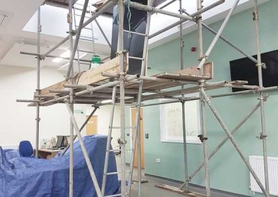 Scaffold for installing window film