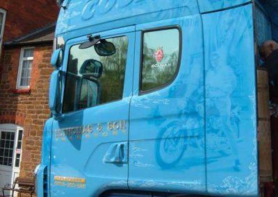 Truck mirror film